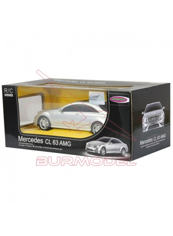 Mercedes Benz CL63 AMG 1/24 plata.