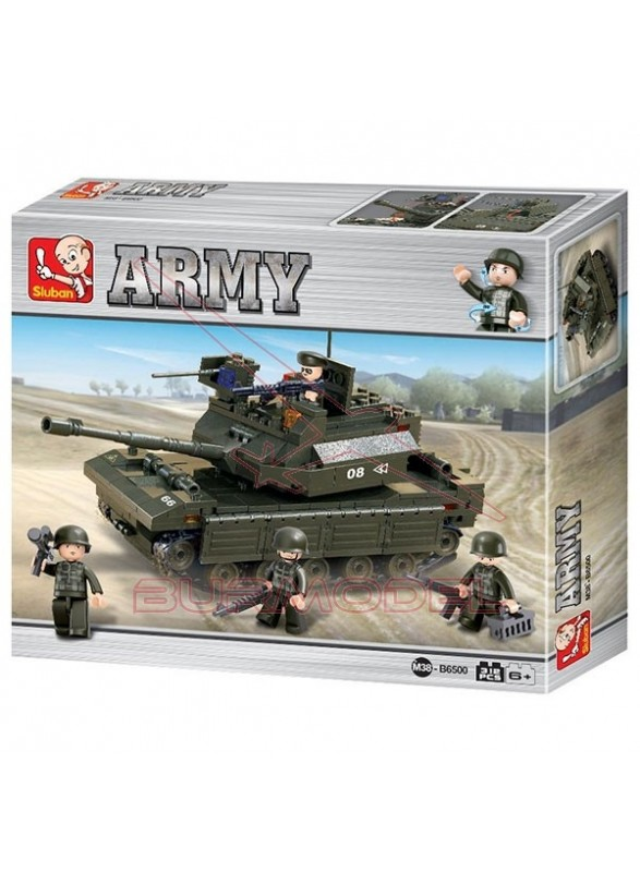 Maqueta infantil para montar un tanque