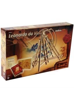Catapulta de madera. Colección Leonardo Da Vinci