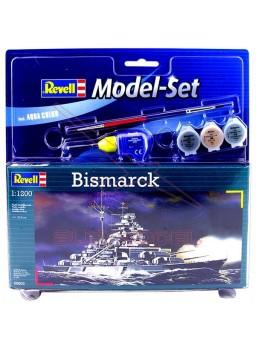 Bismarck 1/1200 para montar. Kit completo
