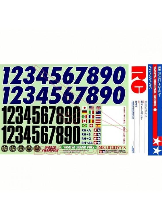 Adhesivos de números para carrocerías coches RC
