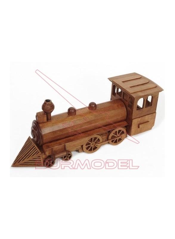 Maqueta de madera para montar Locomotora