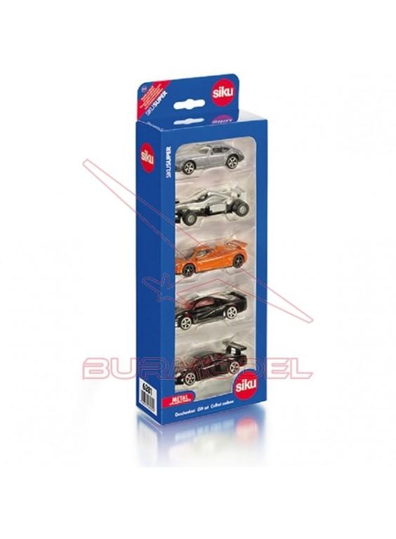 Maquetas coches deportivos SIKU (5 unidades)