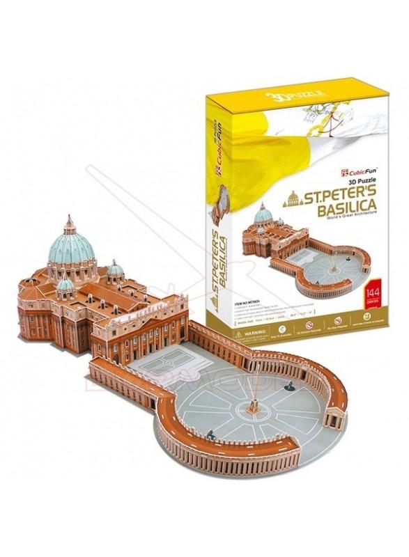Puzzle 3D Basílica de San Pedro. 144 piezas