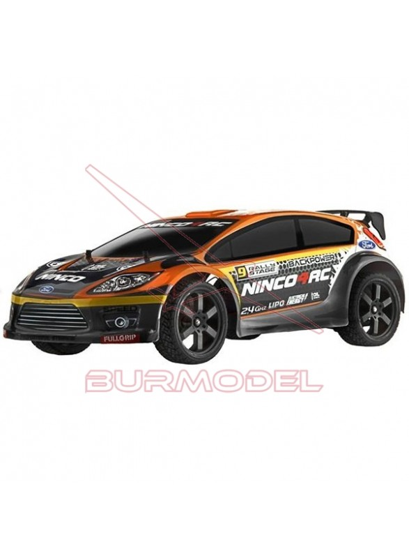 Coche RC Ford Fiesta RS con bateria de lipo