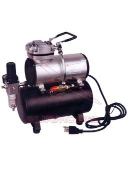 Compresor con calderín manómetro