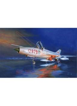 Maqueta Trumpeter avión J-7G Fighter 1/48