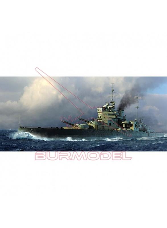 Maqueta Trumpeter HMS Valiant 1939 1:700