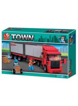 Maqueta camión con remolque