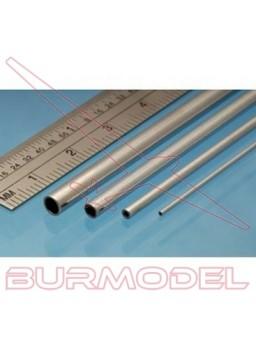 Tubo aluminio 3x0,45 mm. 1 metro.