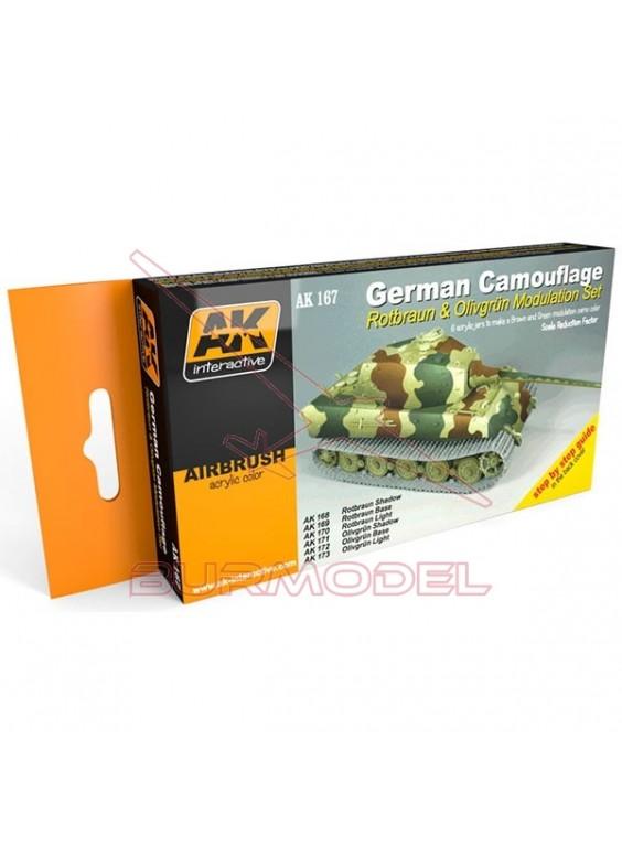Set modulación camuflaje verde alemán y marrón