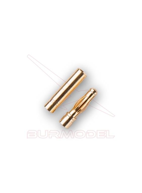 Conector dorado 4mm (macho hembra)