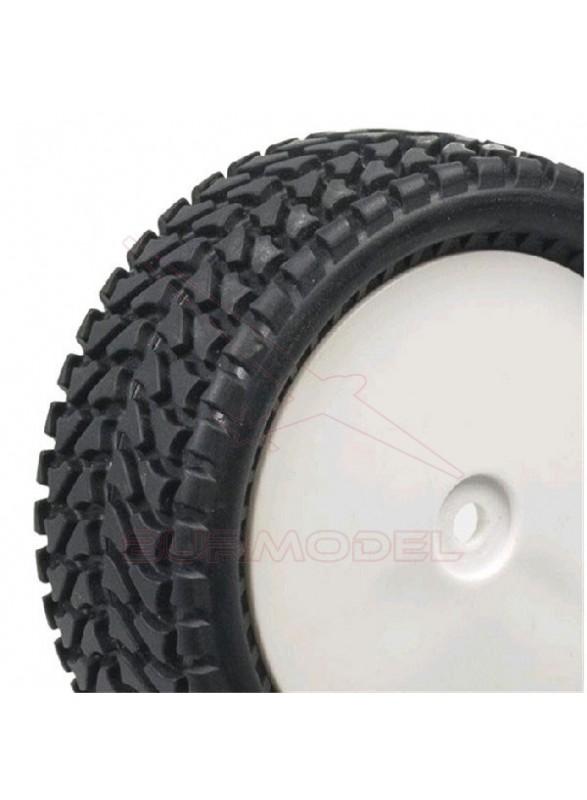 Neumáticos delanteros montados y pegados para bugg