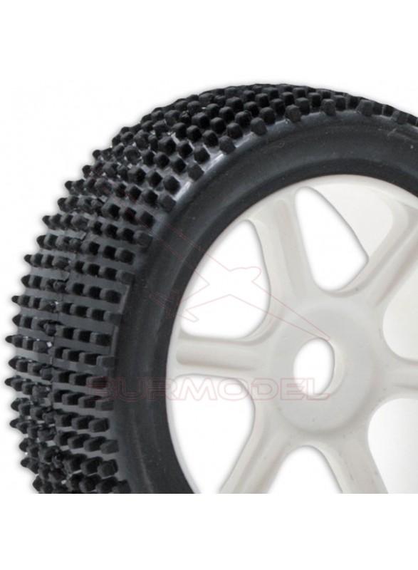 Neumáticos 1/8 buggy S-Block montados y pegados