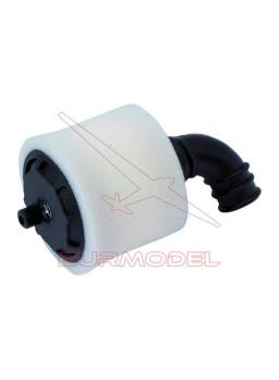 Filtro de aire negro con soporte 1/10