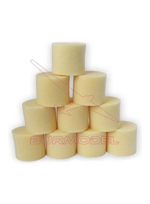 Espumas filtro de aire 1/8 universal (10 unds)