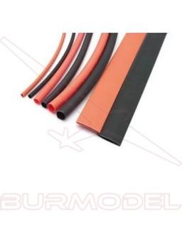 Termoretractil (1.5/3/5/8mm 20cm negro y rojo)