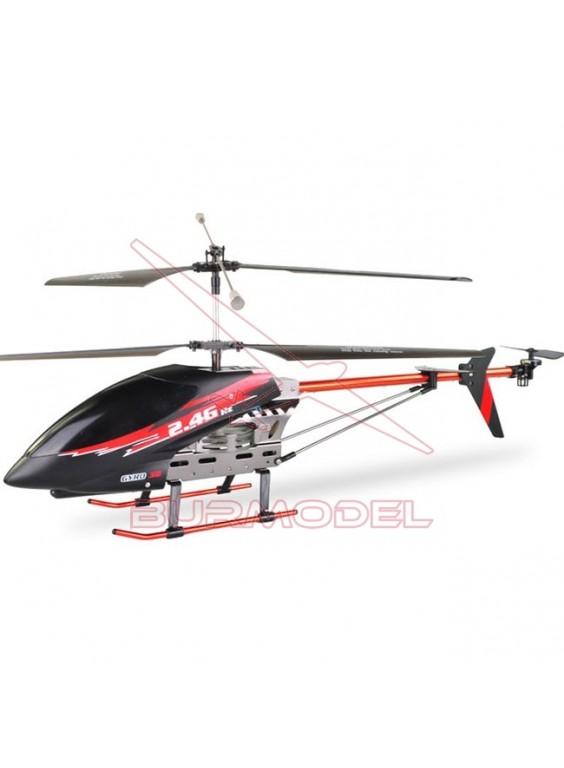 Helicóptero con pantalla digital y cámara