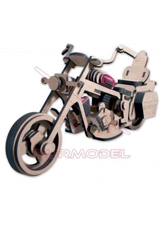 Maqueta moto en madera DM (grande)