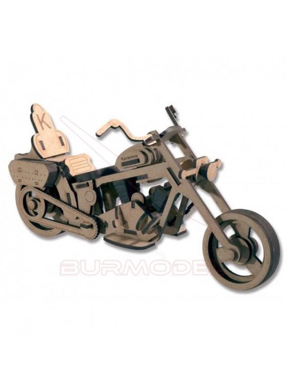 Maqueta moto en madera DM (pequeña)