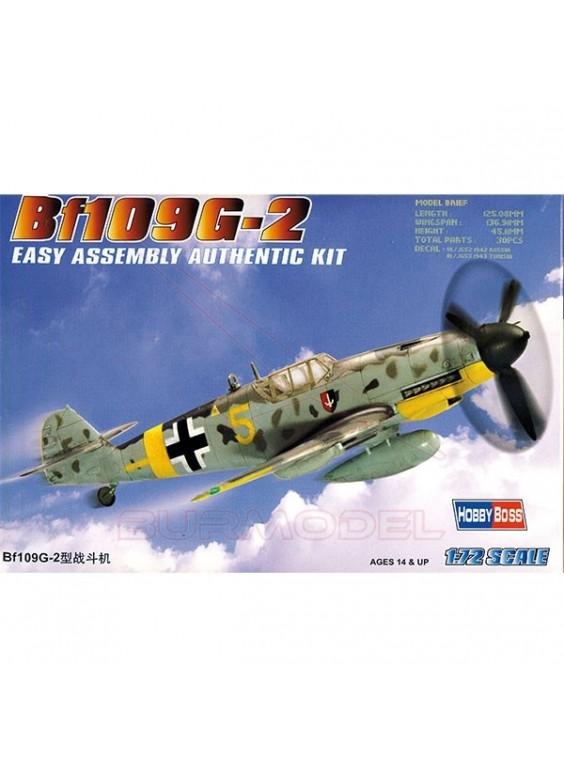 Maqueta avión Hobby Boss Bf109G-2 Easy kit 1/72