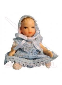 Bebé azul escala 1:12