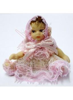Bebé rosa escala 1:12