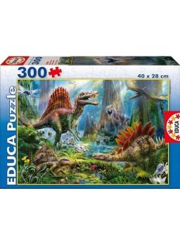 Puzzle 300 piezas Dinosaurios