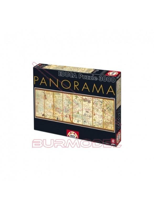 Puzzle 3000 piezas Mapamundi 1375 Panorama,Cresque
