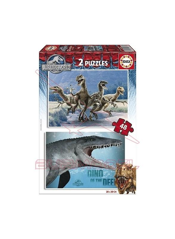 Puzzles Jurassic World 2 uds 48 piezas