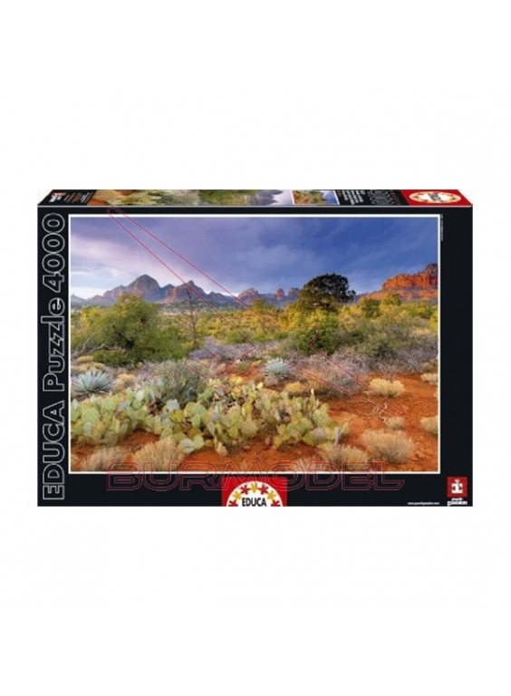 Puzzle 4000 piezas atardecer en Red Rock, Arizona