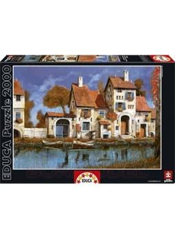 Puzzle 2000 piezas La Cascina Sul Lago, Guido Bore