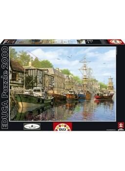 Puzzle 2000 piezas Barcas en el Muelle