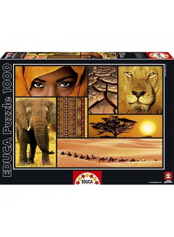 Puzzle 1000 piezas Colores de África