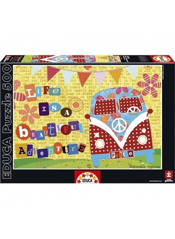Puzzle 500 piezas Life is a Beatuful Adventure