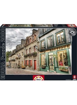 Puzzle 2000 piezas Barrio Petit Champlain, Quebec