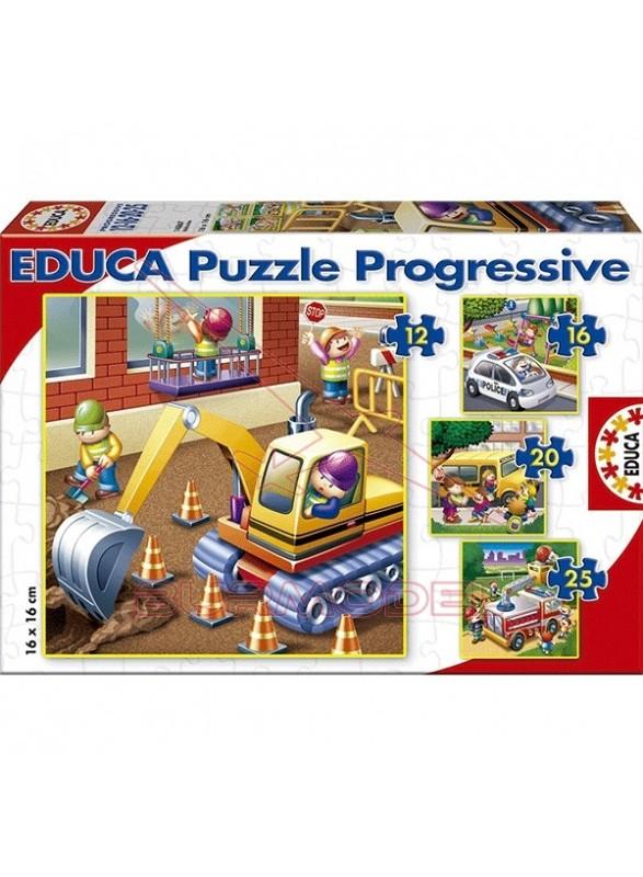 Puzzles infantiles vehículos 12, 16, 20 y 25 pieza