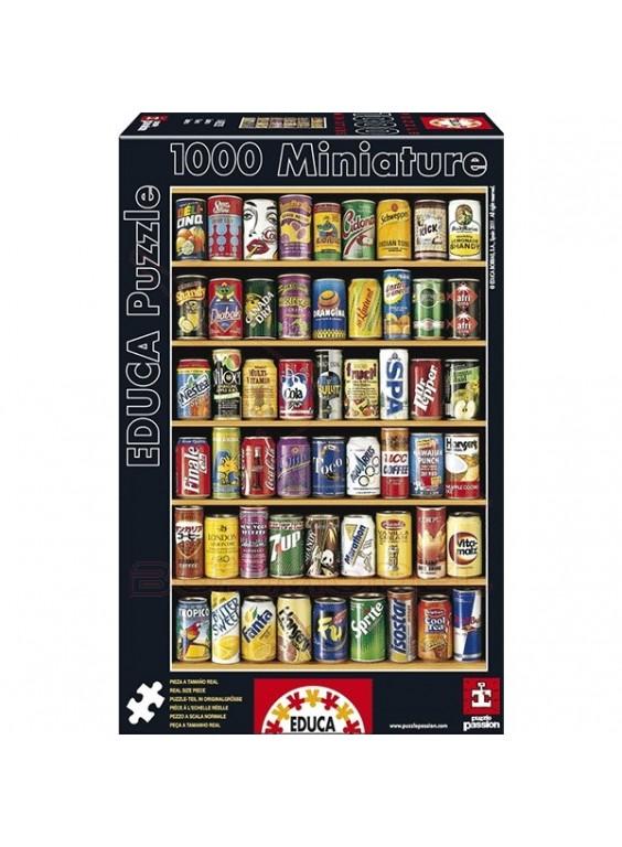 Puzzle 1000 piezas Miniature latas de refresco