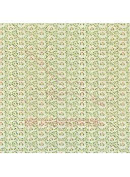 Papel pared detalles florales verdes