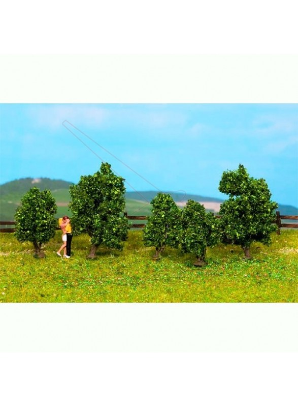 Arbustos verdes de 3 a 4cm (4uds)