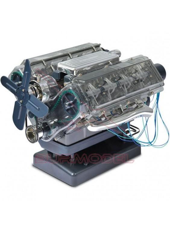 Maqueta motor V8