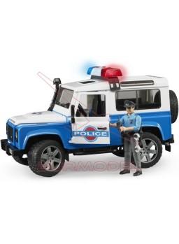 Land Rover SW Policía con sirena y agente