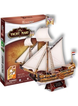 Puzzle 3D Barco Yacht Mary