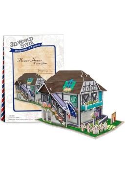 Puzzle 3D Flower House France Flavor