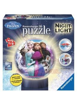 Puzzle lámpara con luz Frozen