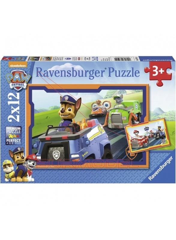 Puzzle 12 piezas Paw Patrol 2 en 1