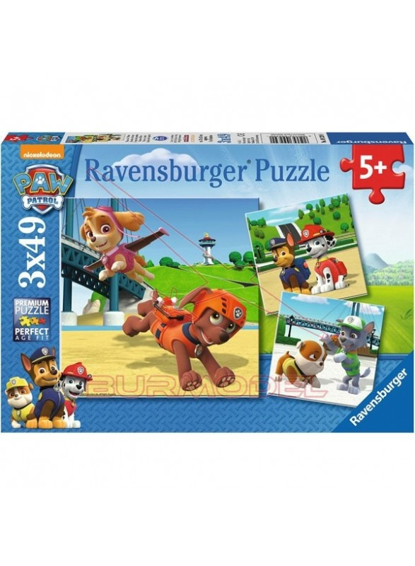 Puzzle 49 piezas Paw Patrol 3 en 1