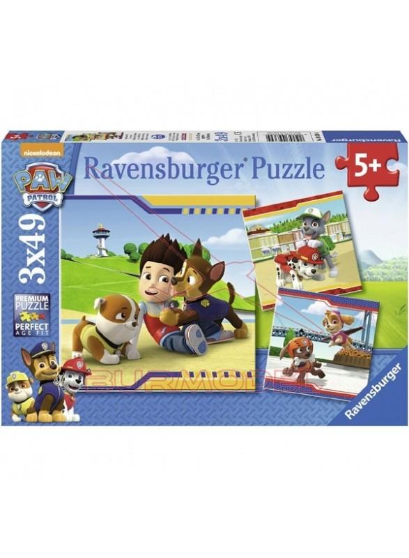 Puzzle 3 en 1 de 49 piezas Paw Patrol
