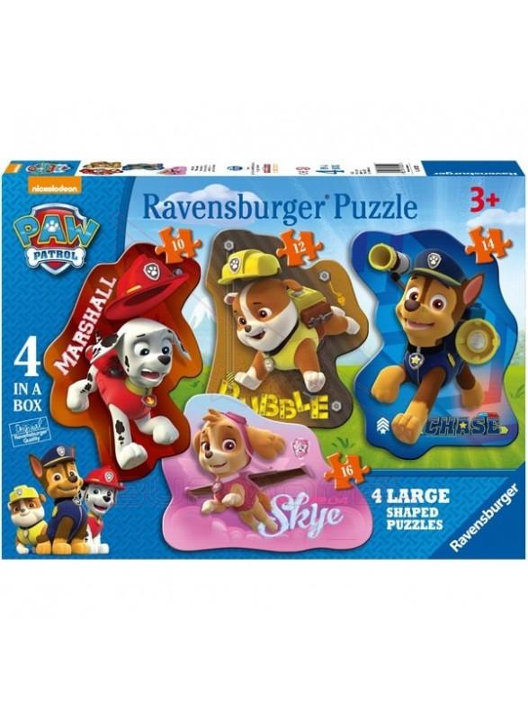 Puzzle progresivo Patrulla Canina 4 en 1