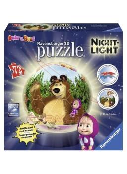 Puzzle lámpara con luz Masha y el Oso